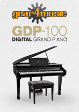 Pianoforte digitale a codino con sgabello Deluxe Gear4music