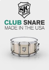 SJC Drums Club 14 x 6.5 Snare Drum, Nickel Over Steel with Chrome HW