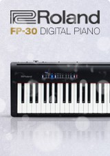 Roland FP-30 superNATURAL Pianoforte digitale, nero