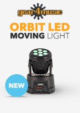 ORBIT 70W LED Moving Head Light by Gear4music